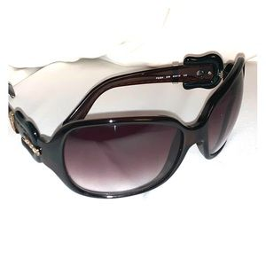 Fendi sunglasses with belt buckle sides, brown